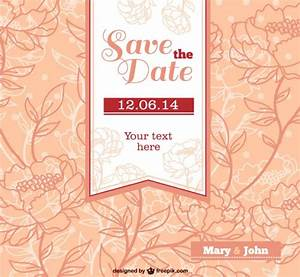 Wedding invitation with flowers Vector | Free Download