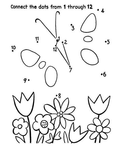 dot to dot activity page butterfly and flowers dot to 764 | d35168794d3b2b53c54446356bab23ac
