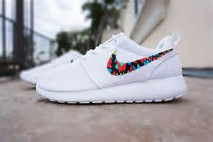 design roshe run custom nike roshe run for tribal design white with