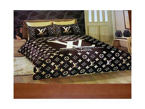 001 louis vuitton 6pcs authentic luxury bed set satin made - Louis Vuitton Comforter Set King