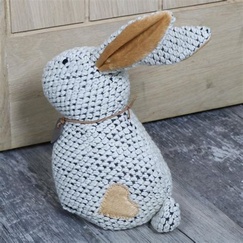 shabby chic fabric door stop white fabric rabbit weighted door stop shabby vintage chic home accessories gift ebay