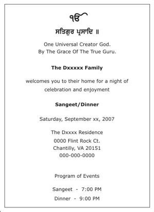 wedding sangeet ceremony invitation wordingssangeet
