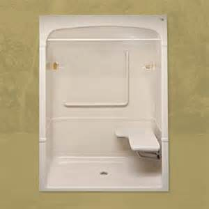 One Piece Acrylic Tub Shower Units by Mirolin Barrier Free 1 Piece Shower Stall With Fold Up