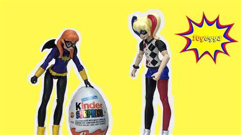 harley quinn kostüm kinder harley quinn and batgirl toys open kinder egg
