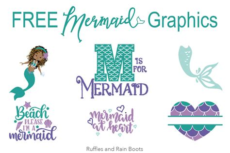 mermaid svg files fonts  graphics  crafts