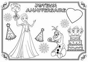 Joyeux Anniversaire Reine Des Neiges : anniversaire coloriage reine des neiges ajouter le pr nom ~ Melissatoandfro.com Idées de Décoration