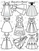 Doll Paper Template Clothes Coloring Pages sketch template