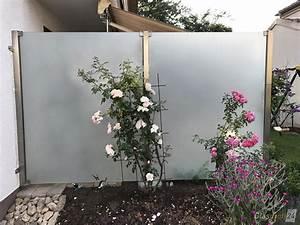 Zaun Aus Glas : zaun aus glas mit hochwertigen edelstahlpfosten f r sichtschutz und windschutz in garten und ~ Yasmunasinghe.com Haus und Dekorationen