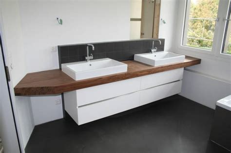 Badezimmer Unterschrank Mit Holzplatte by Holz Waschtisch Mit Aufsatzbecken Bvrao