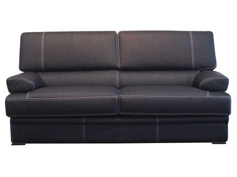canap 233 fixe 3 places leonardo coloris noir vente de canap 233 droit conforama