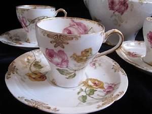 Service Tasse à Café : service caf 10 tasses fleurs 1900 haviland ~ Teatrodelosmanantiales.com Idées de Décoration