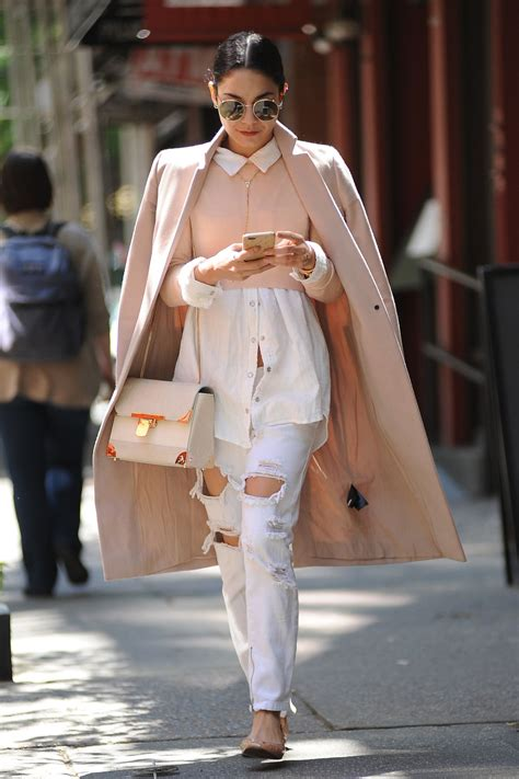 Vanessa Hudgens in Ripped Jeans - Out in Soho, New York ...