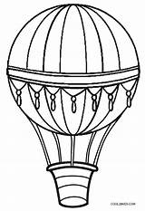 Balloon Coloring Air Pages Printable Cool2bkids sketch template