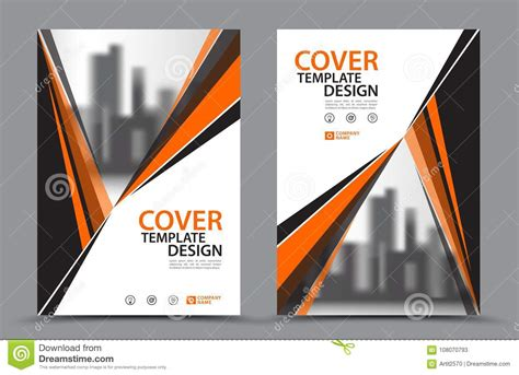 Orange Color Scheme With City Background Business Book