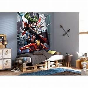 Fresque Murale Papier Peint : fresque murale avengers flight papier peint poster g ant id es pour la maison avengers ~ Melissatoandfro.com Idées de Décoration