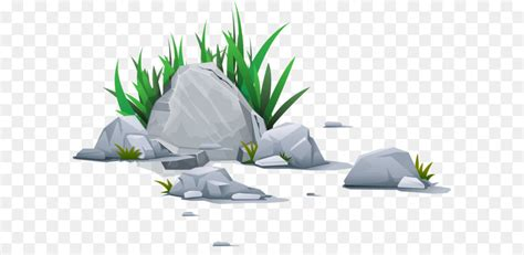 rock clip art vector grass stone png
