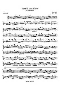 Partita for solo flute Original version - Flute - Sheet