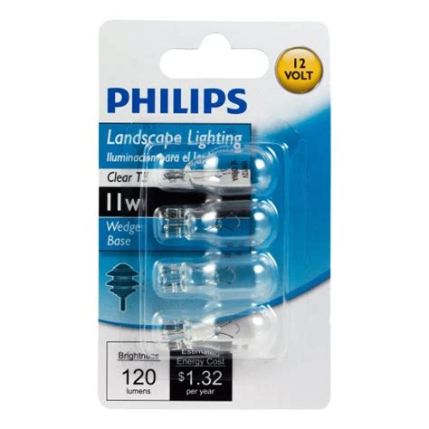 philips 415828 landscape lighting 11 watt t5 12 volt wedge