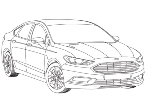 ford mondeo mk  coloring page  printable coloring pages