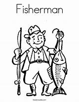Coloring Fishing Pages Fisherman Ice Clipart Grampy Clip Outline Print Happy Noodle Super Cursive Built California Twistynoodle Usa Clker Cliparts sketch template