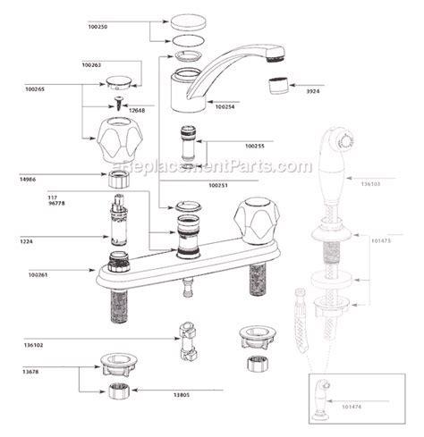 Moen CA87685 Parts List and Diagram : eReplacementParts.com