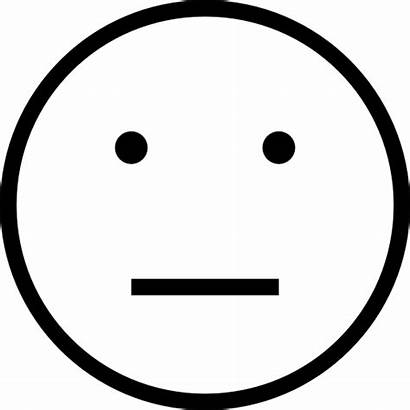 Outline Face Faces Smiley Emoji Neutral Clip