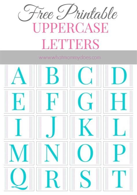 printable alphabet letters    large upper case