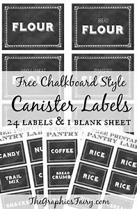 printable canister labels the graphics fairy With canister labels printables