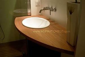 comment fabriquer un meuble vasque avec plan de travail With plan vasque salle de bain sur mesure