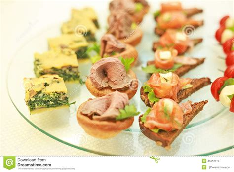 traditional canapes national canapes stock photo image 45612678