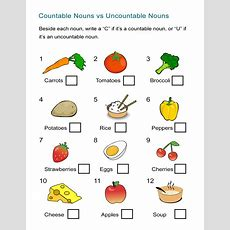 Countable Nouns Vs Uncountable Nouns Worksheet  All Esl