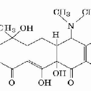 Chemical structure of tetracycline. | Download Scientific ...