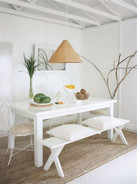 comedor decoracion en blanco moderno  sencillo