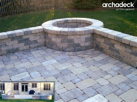 firepit wall fire pit design ideas outdoor living with archadeck of chicagoland