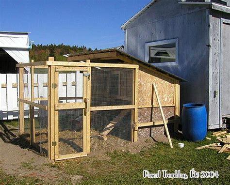construire un poulailler construire un poulailler poulailler plan construction
