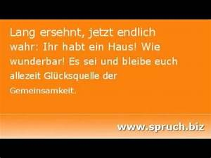 Spruch Zur Hauseinweihung : spruch zum einzug youtube ~ Lizthompson.info Haus und Dekorationen