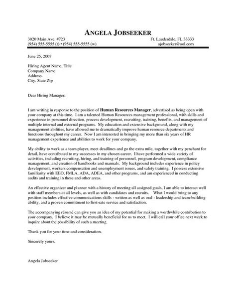 outstanding cover letter exles hr manager cover