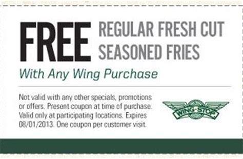 wingstop  fries printable coupon httpwwwpinterest