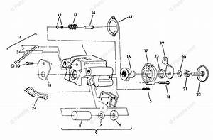 Polaris Atv 1991 Oem Parts Diagram For Rear Brake Assembly