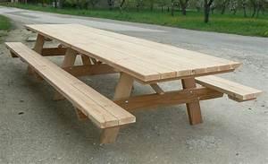 Table Bois Pique Nique : promotion sur nos tables pique nique en bois ~ Melissatoandfro.com Idées de Décoration