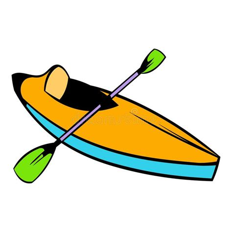 Canoe Boat Clipart by Kayak Icon Icon Stock Vector Illustration Of