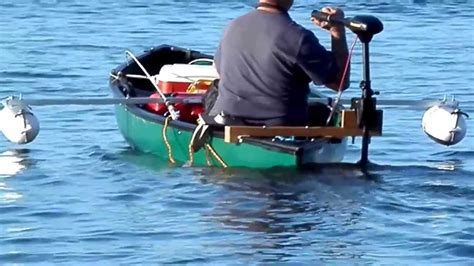 Canoes With Electric Motors by Teak Trolling Motor Mount And Canoe Outriggers