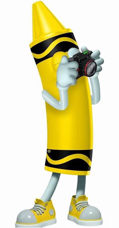 Crayon Crayola Yellow Experience Crayons Cartoon Character