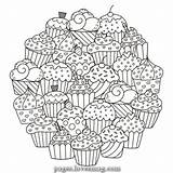 Coloring Muffins Pages Candy Lovesmag Sweet Magical sketch template