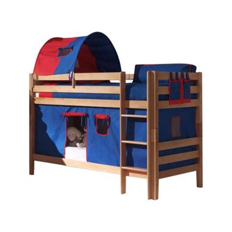 lit superposé avec bureau pas cher lit superposé beni nature avec tente bleu achat