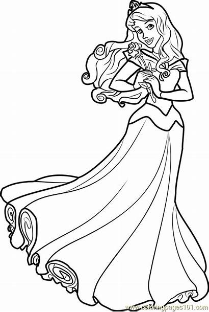 Aurora Princess Coloring Disney Pages Princesses Coloringpages101
