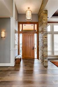 Entryway, Foyer, In, New, Luxury, Home, Stock, Photo