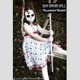 Homemade Broken Doll Costume | 567 x 850 jpeg 102kB