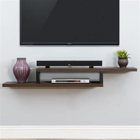 tv on wall mount ascend 60 quot asymmetrical wall mounted tv component shelf