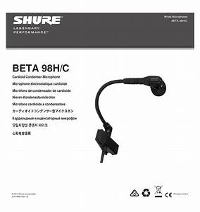 Shure Beta98h Instrument Microphone User Guide